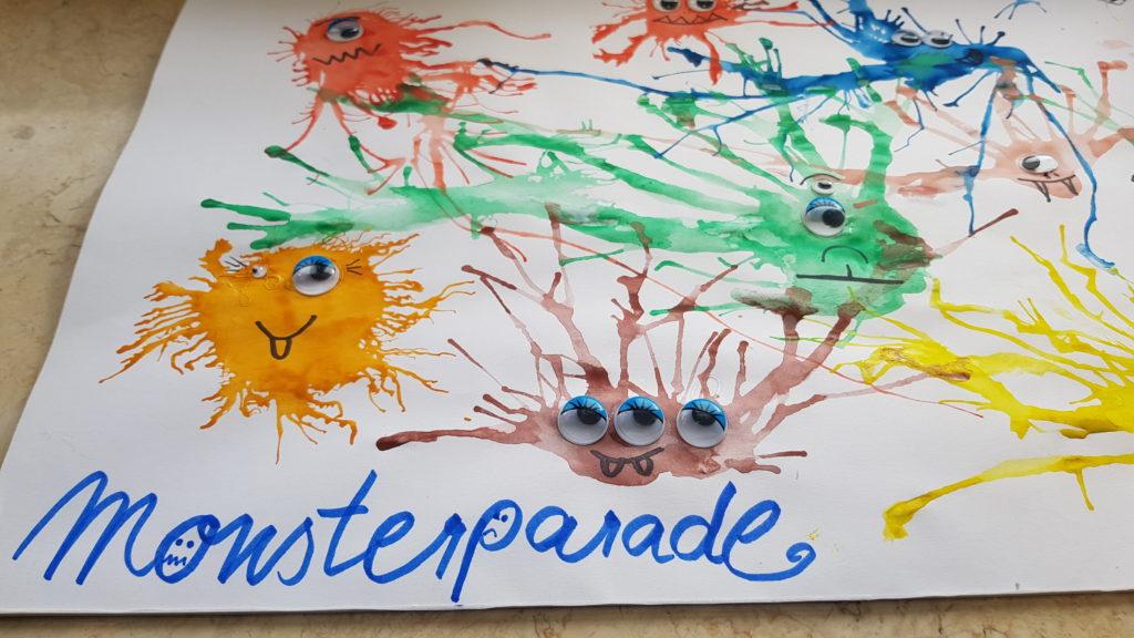 Monsterparade, Mundmotorik, Blaseübung, Logopädie